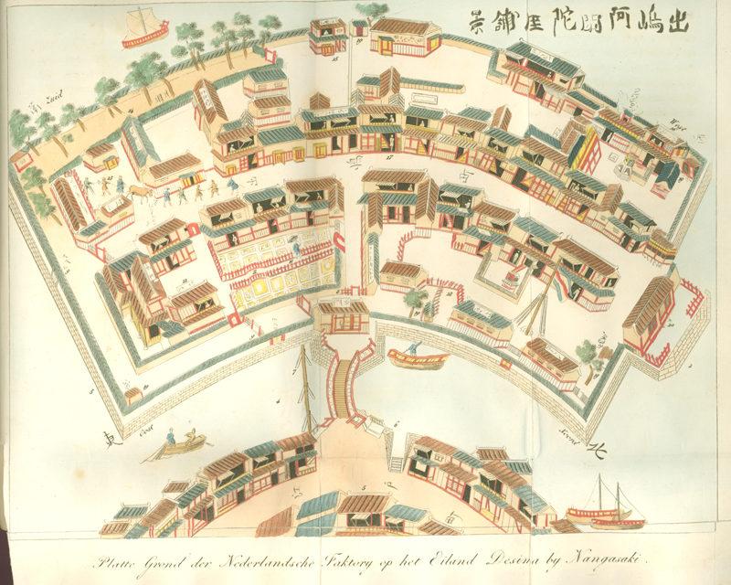 plattegrond deshima, ouderwets
