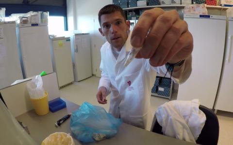 wetenschapper, lab