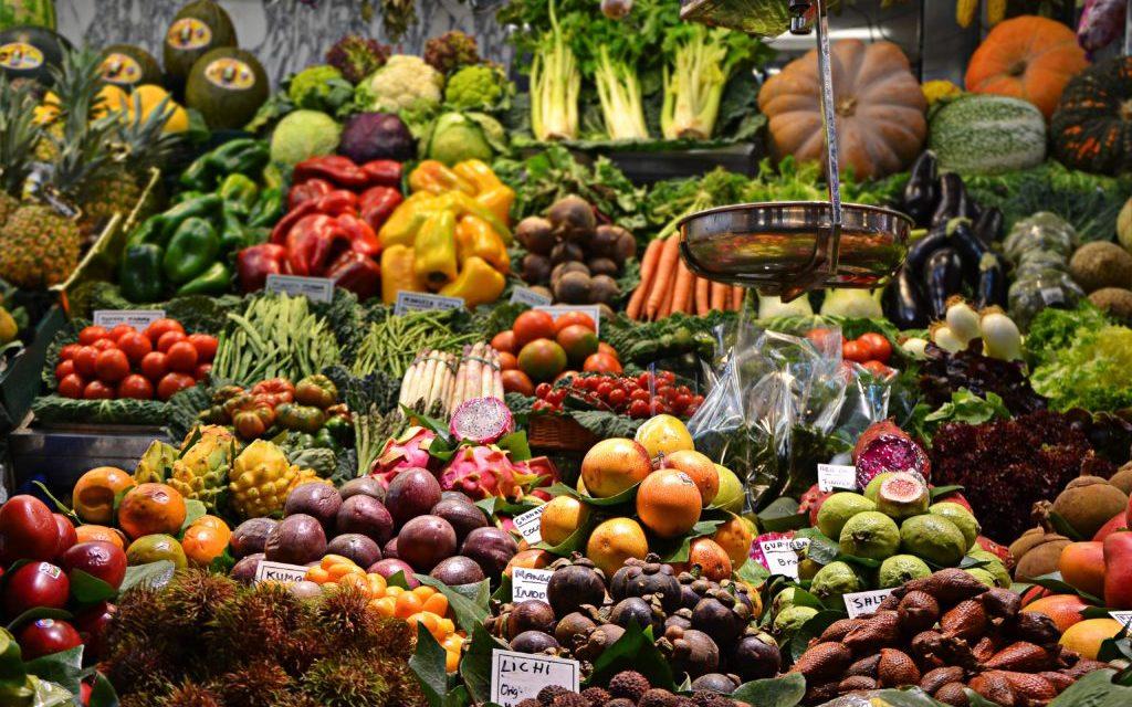 fruitkraam, markt, foto