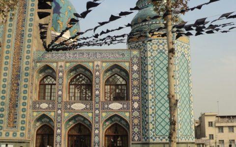 iran, moskee, plein, mensen