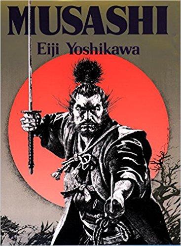 Boekomslag Musashi, door Yoshikawa Eiji (1935)