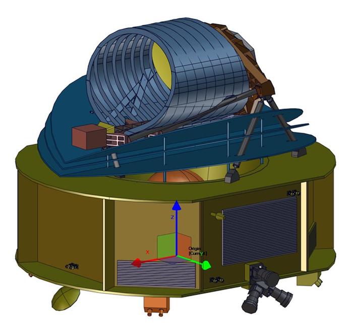 Tekening van de ARIEL-telescoop