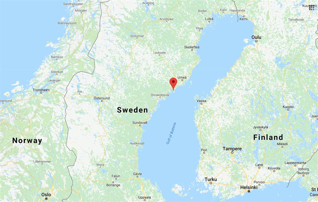 Onderzoeksgebied Järnäshalvön, een schiereiland in de Oostzee