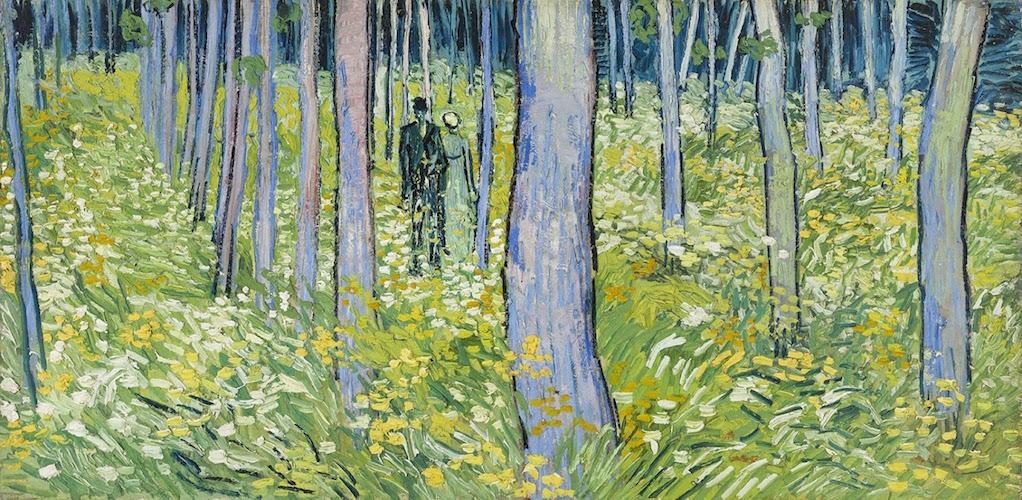 Tentoonstelling Van Gogh en Japan: Kreupelhout met twee figuren 1890
