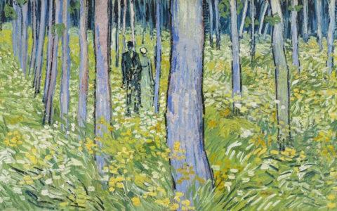 Kreupelhout met twee figuren 1890