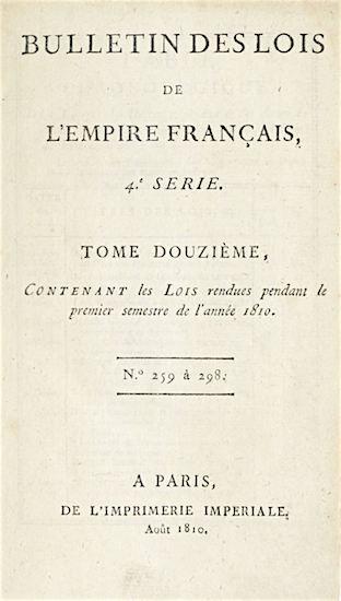 Mijnbouwwet: Bulletin des Lois uit 1810