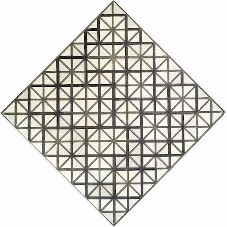 De Stijl: Compositie met grijze lijnen van Piet Mondriaan