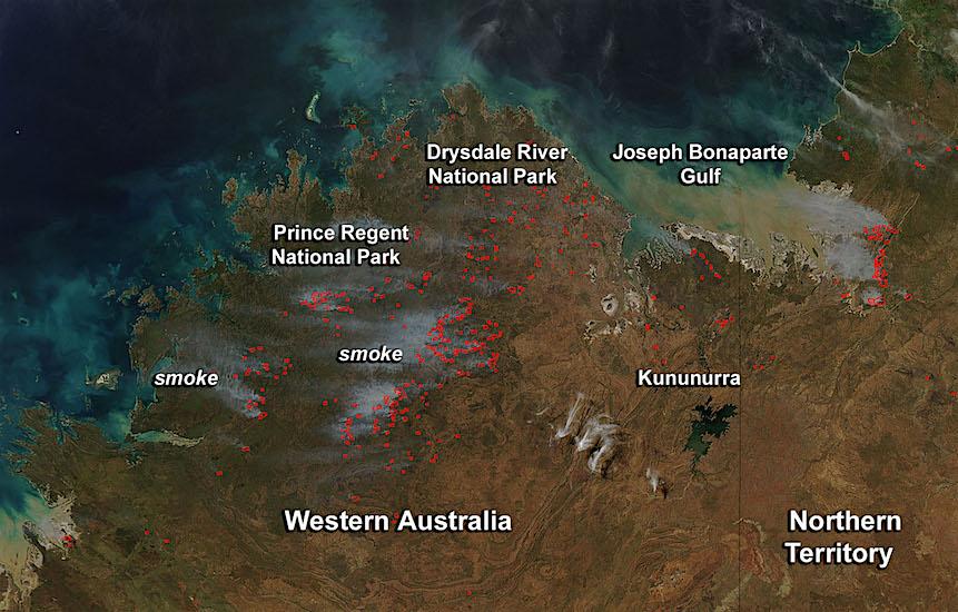 Honderden bosbranden in Australië