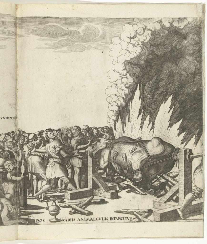 Os aan het spit, beeld van Rijksmuseum