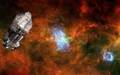 De Herschel-telescoop en Vela C