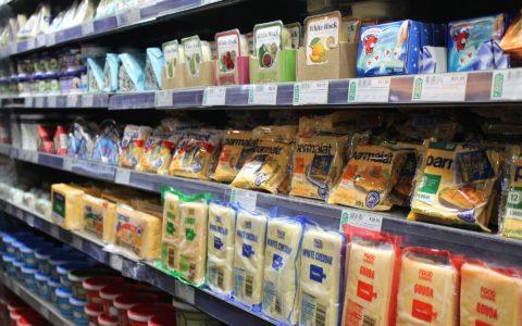 Voedingsmiddelen in de supermarkt