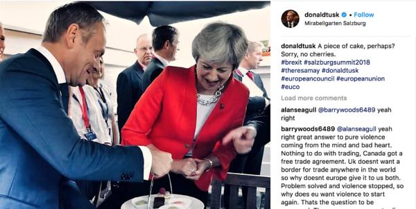 Donald Tusk op Instagram