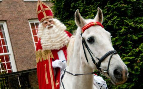 Sinterklaas op Amerigo in 2008 nabij Paleis Het Loo in Apeldoorn
