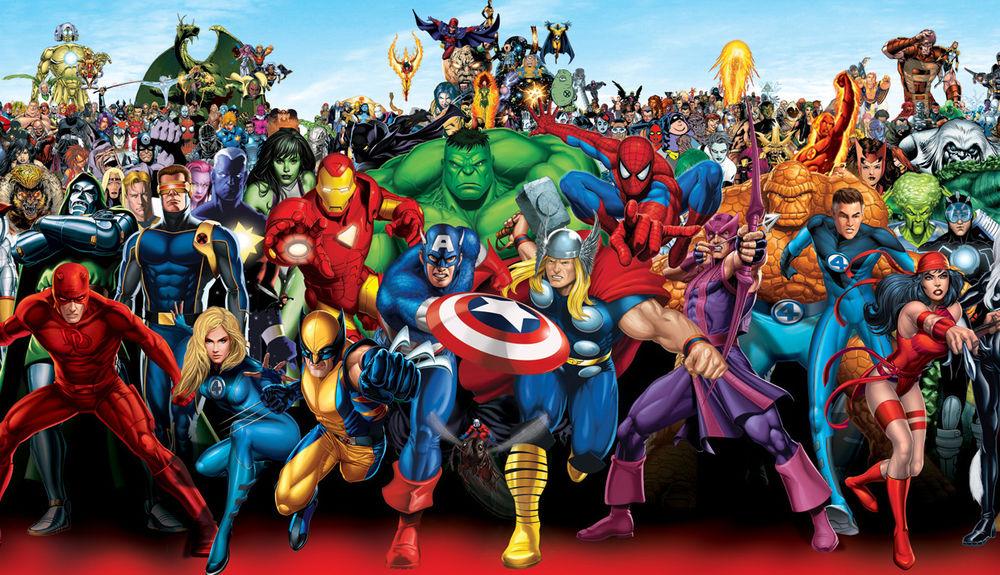 Karakters uit het Marvel Universum (c) Marvel