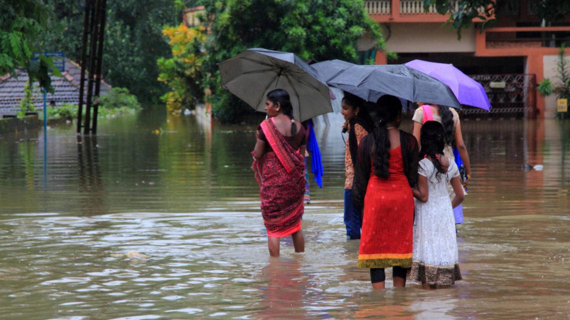 Overstromingen in India tijdens het regenseizoen
