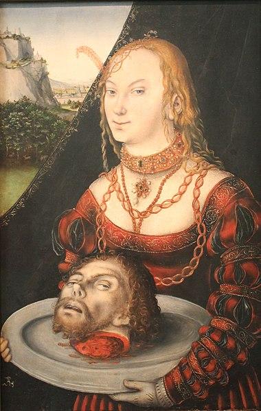"""Lucas Cranach de Jongere, """"Salome"""""""
