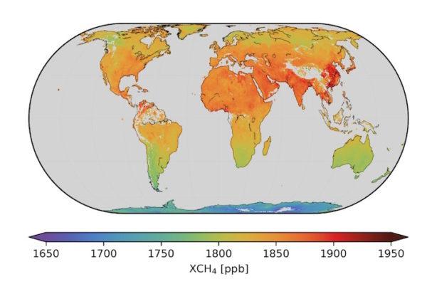 Mondiale verdeling methaan