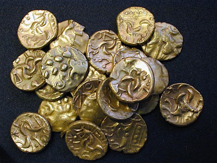 Bodemschatten: Keltische munten