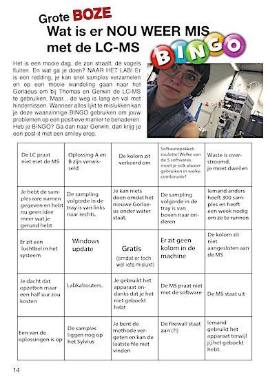 De Grote Boze LC-MS Bingo