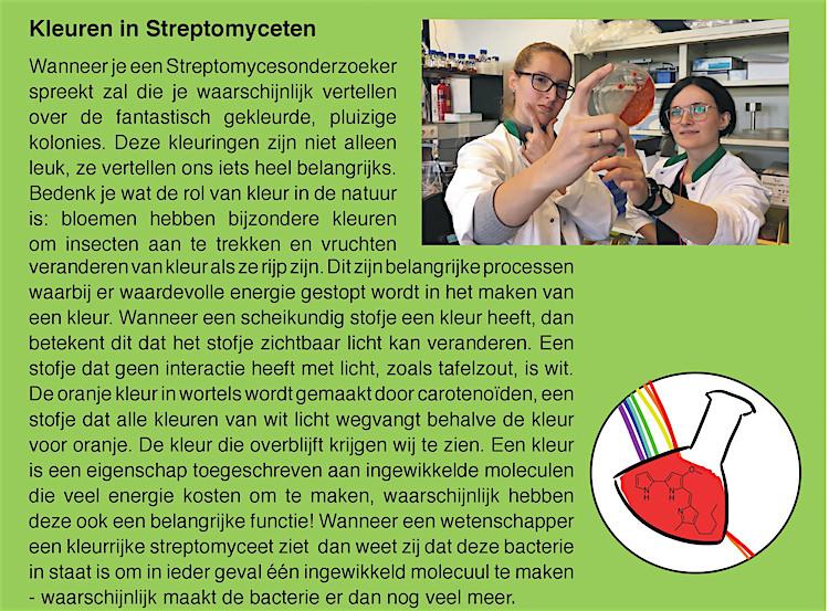 Kleuren Streptomyces