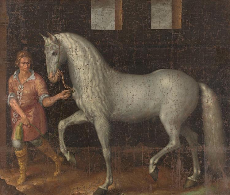 Jacob de Gheyn Spaanse strijdhengst