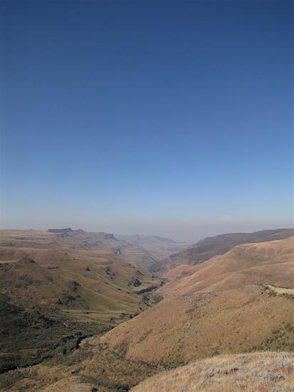 Uitzicht vanuit Lesotho
