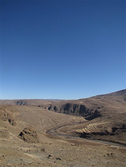 Uitzicht Senqu-rivier