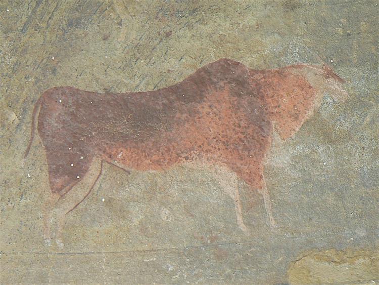 Prehistorische rotskunst: Eland-antilope