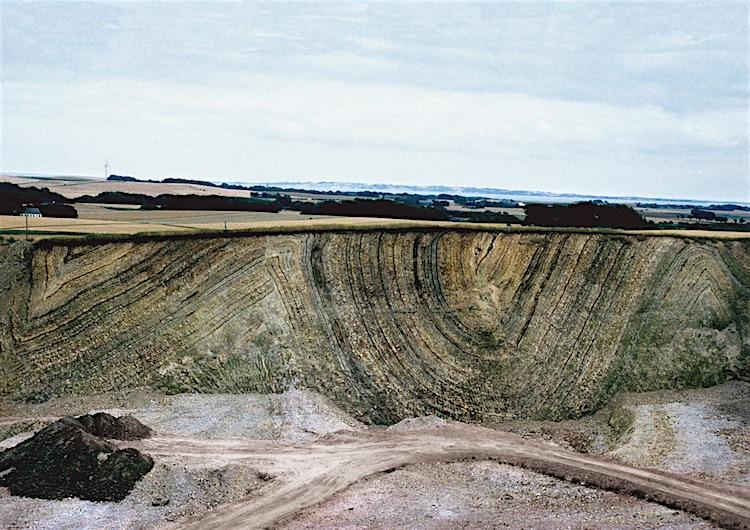 Aslagen vulkaan van 55 miljoen jaar geleden