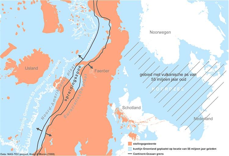 Figuur 4: mid-oceanische rug
