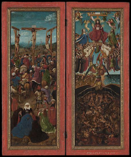 Jan van Eyck, Laatste Oordeel en kruisiging