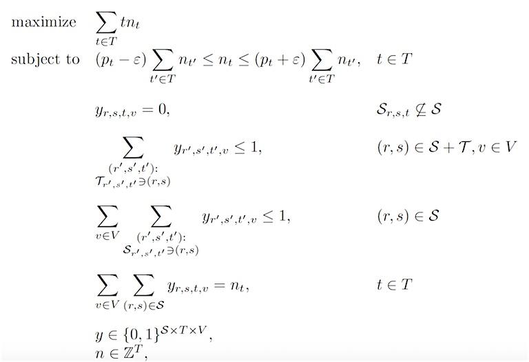geheeltallig lineair programma