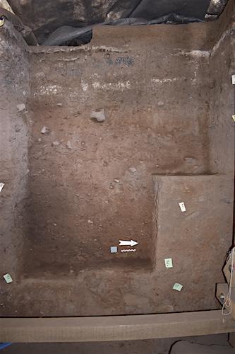 het profiel tijdens de opgraving